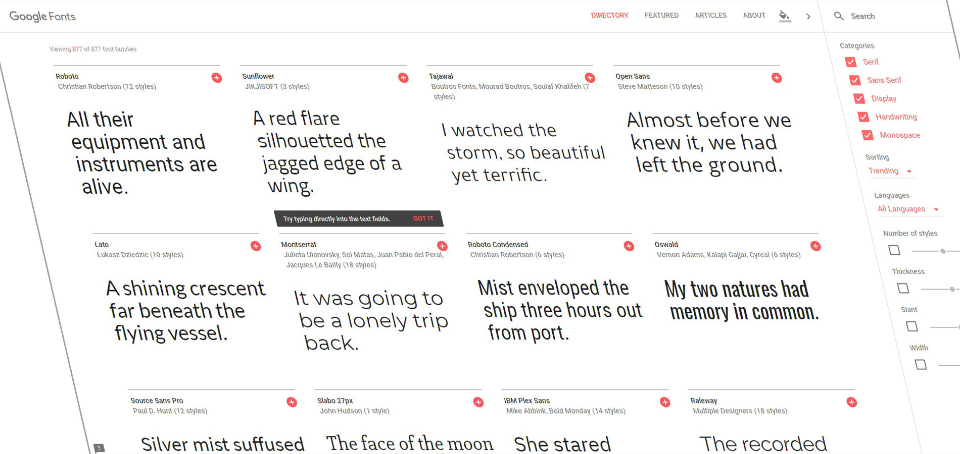 inc google fonts
